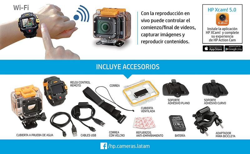 HP ACTION CAM ac300w - 2 accesorios