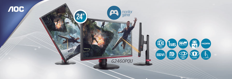 Monitor Gaming AOC G2460PQU 2