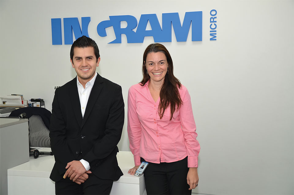 Diego Pulido, Business Development Manager  for Lenovo and Sabina Lopez, Miami Export Business Manager for Lenovo for Central America and the Caribbean